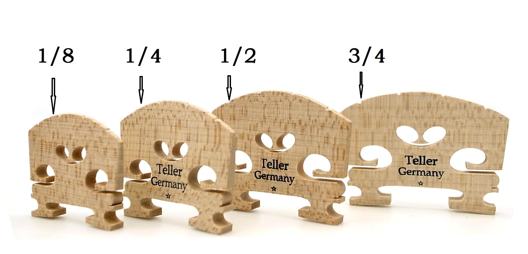 原装进口德国Teller削制成型小提琴琴码儿童琴码分数琴码即用模式